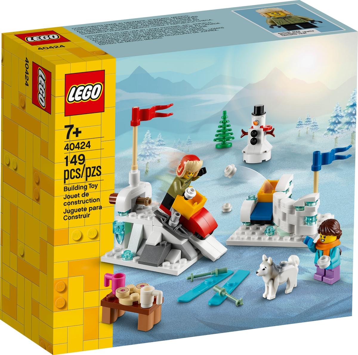 lego 40424 winter snowball fight
