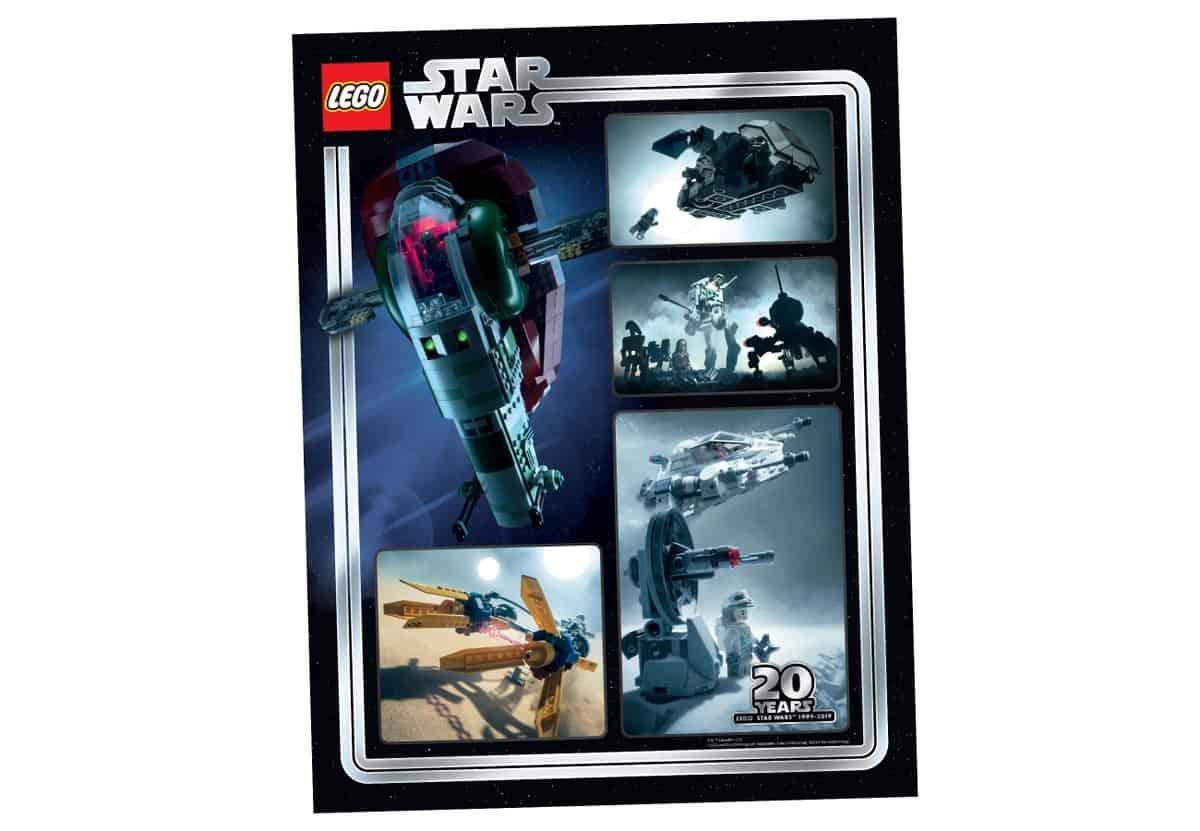 lego 5005888 collectible star wars 20th anniversary art print