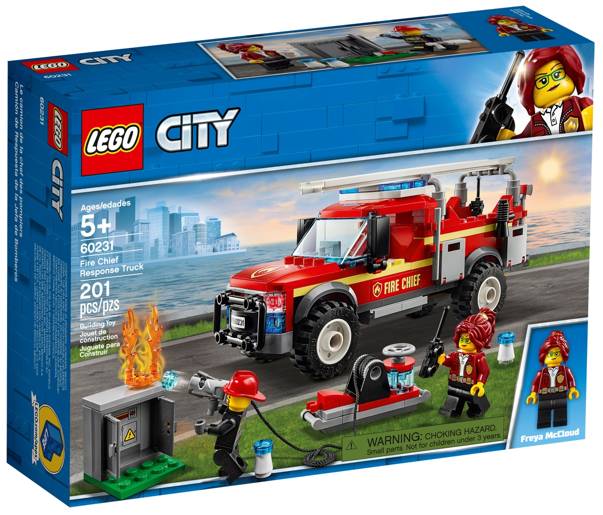 lego 60231 fire chief response truck