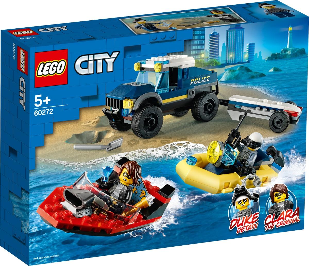 lego 60272 elite police boat transport