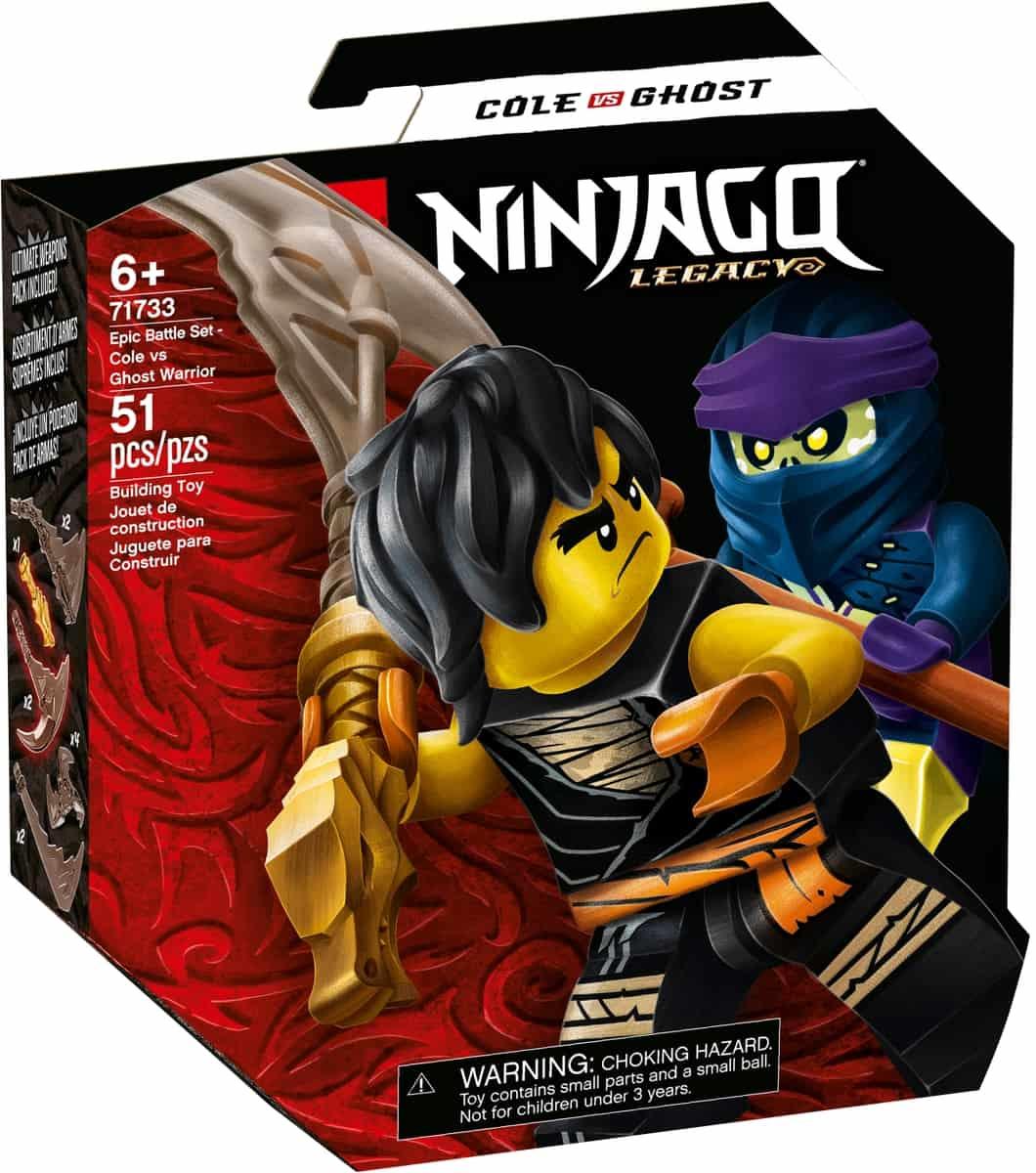 lego 71733 epic battle set cole vs ghost warrior
