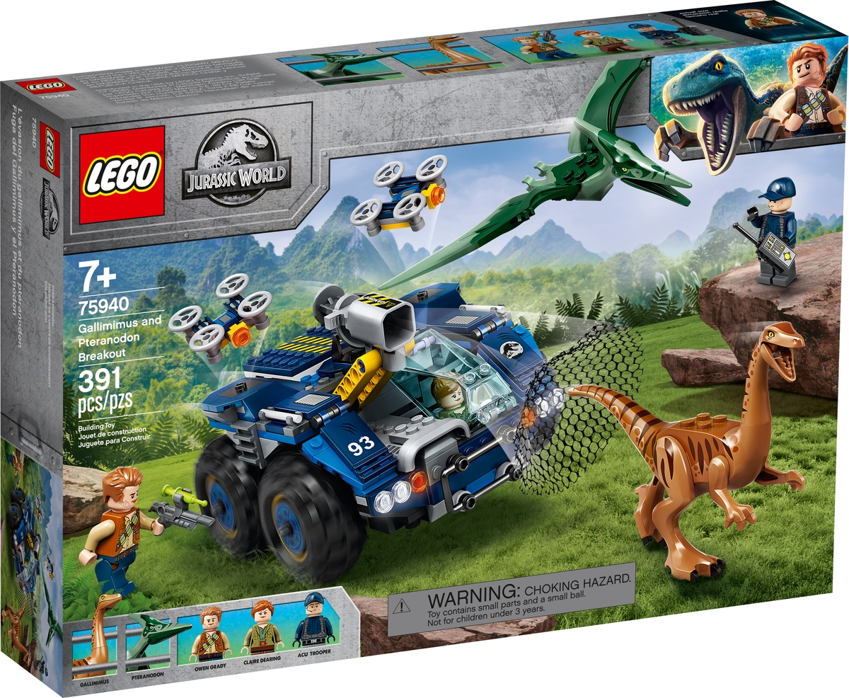 lego 75940 gallimimus and pteranodon breakout