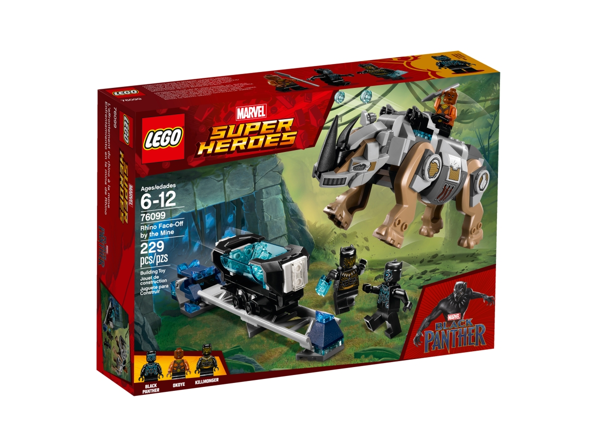 lego 76099 rhino face off by the mine