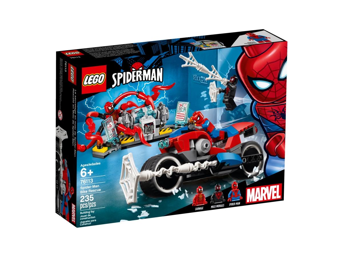 lego 76113 spider man bike rescue