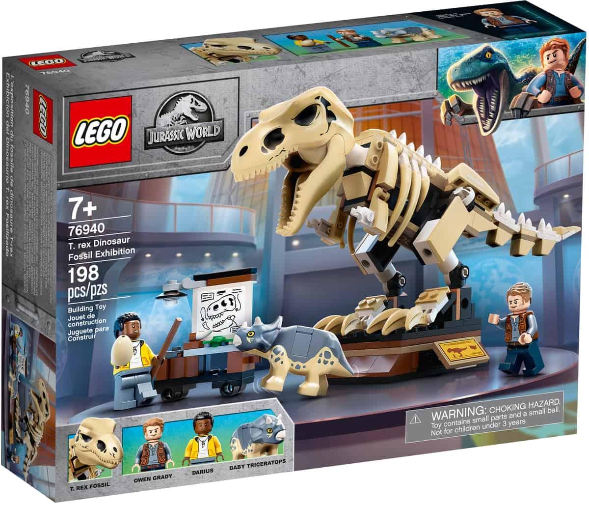 lego 76940 t rex dinosaur fossil
