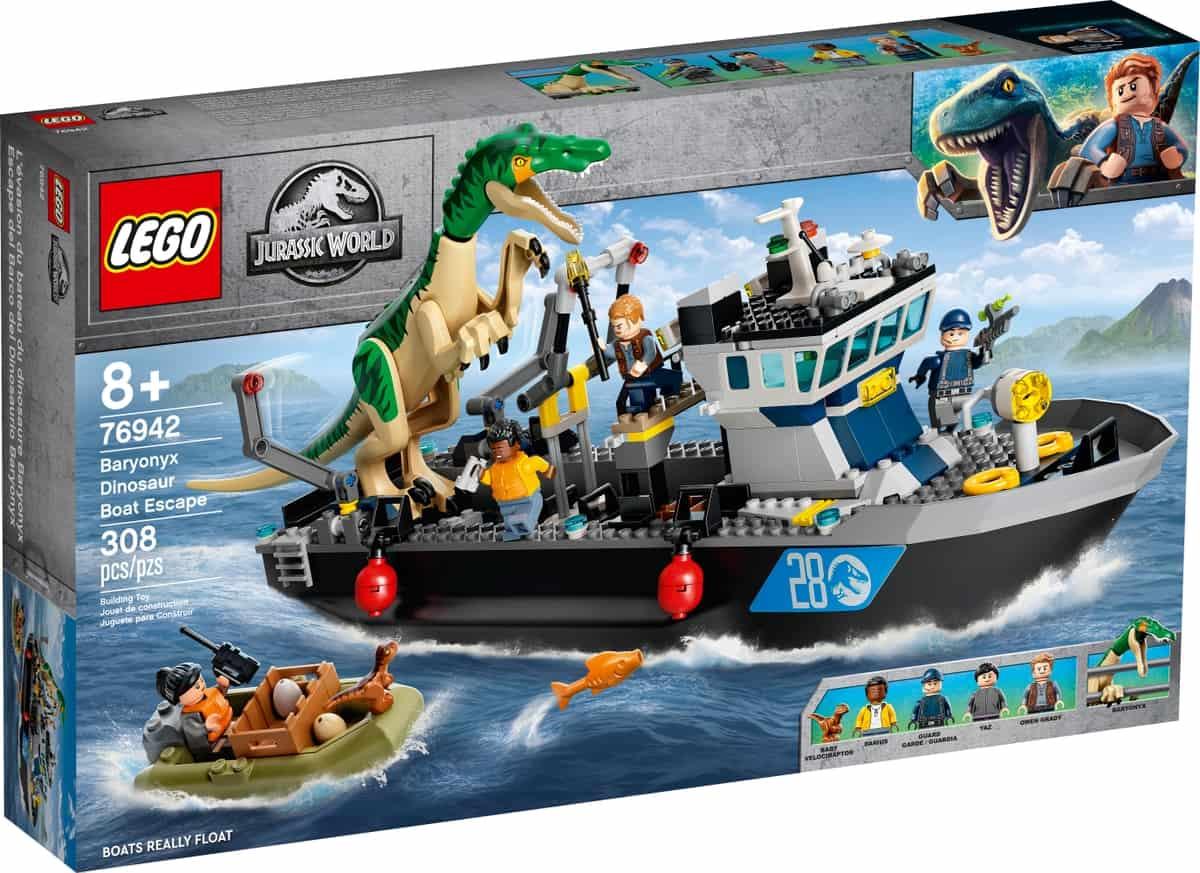 lego 76942 baryonyx dinosaur boat escape