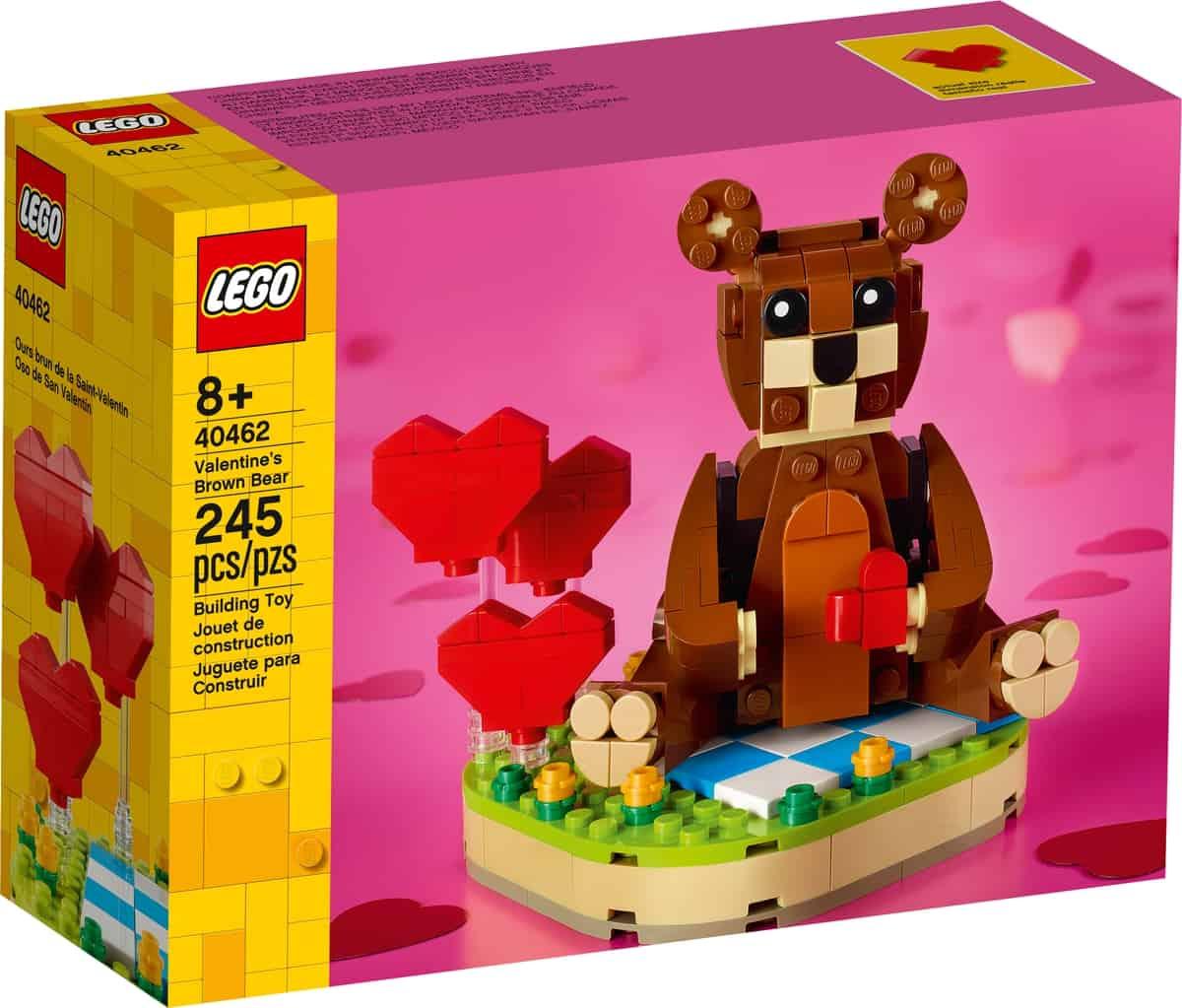 lego 40462 valentines brown bear